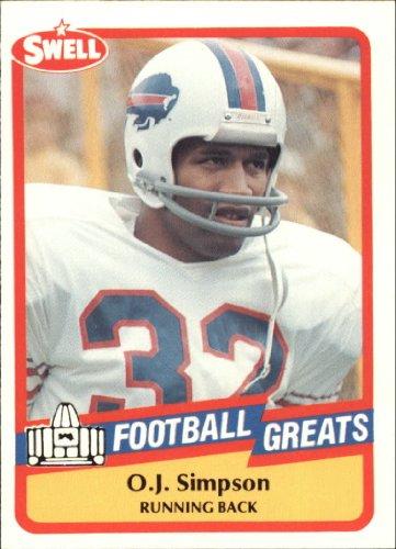 (1989 Swell Greats Football Card #127 O.J. Simpson Mint)