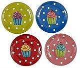 Design Imports Cupcake Dessert Plates - SET OF 4
