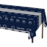 Creative Converting Penn State Nittany Lions Plastic Banquet Table Cover, 54 x 108