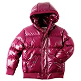 Appaman Girls' Puffy Coat, Deep Fuchsia Sparkle, 3T