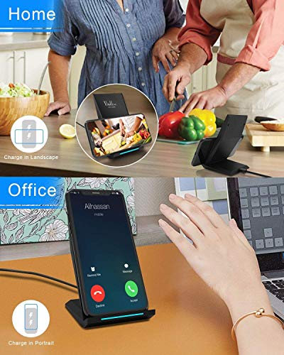 Thinkbee Fast Wireless Charger, 10W Qi Wireless Charger for