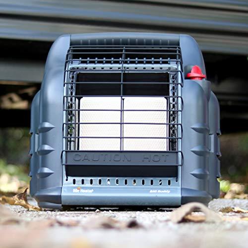 Mr. Heater F274830 MH18BRV Big Buddy Grey Indoor-Safe Portable RV Propane Heater (4,000 , 9,000 and 18,000 BTU)