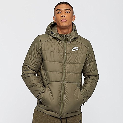Nike Men's Sportswear Jacket 881786 222 Medium Olive White