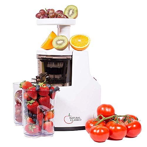 - Nutritional Center slow Speed Masticating Juicer, Food Processor by Natural Classico Fresh Healthy Fruit and Vegetable Juice at 85 RPM