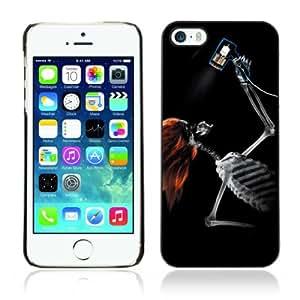 CQ Tech Phone Accessory: Carcasa Trasera Rigida Aluminio PARA Apple iPhone 5 5S - Cool Skeleton X-Ray