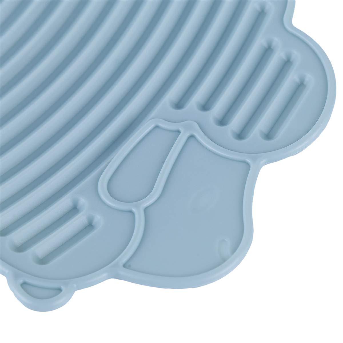Beiswin Mini Planche /à Laver en Plastique Blanchisserie Washboard Conseil De V/êtement Washboard Washboard pour Outil De M/énage Bleu