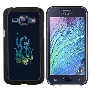 Jordan Colourful Shop - Octopus Attack For Samsung Galaxy J1 J100 J100H Personalizado negro cubierta de la caja de pl????stico