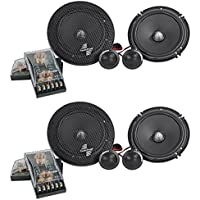(2) Pairs Precision Power SC.65 6.5 350 Watt 2-Way Car Audio Component Speakers