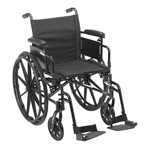 Drive Medical Cruiser X4 Lightweight Dual Axle Wheelchair with Adjustable Detachable Arms, Desk Arms, Swing Away Footrests, 16'' Seat by Drive Medical