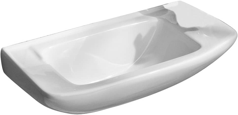 Porcher 25011-00.001 Elfe Wall-Mounted Hand Basin, White
