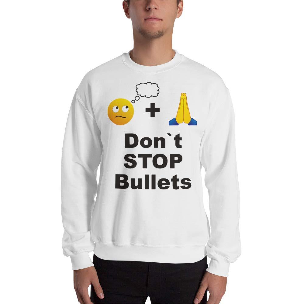 Sweatshirt White STFND Stop Bullets