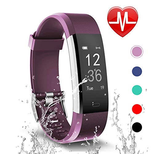 Letsfit Fitness Tracker with Heart Rate Monitor, Activity Tracker Sleep Monitor Waterproof, Step Counter Pedometer Fitness Watch, IP67 Water Resistant Smart Bracelet for Kids Women Men