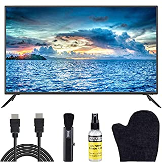 Sansui 50-Inch 4K UHD DLED TV (S50P28U) Ultra-Light Slim with Built-in HDMI, USB, High Resolution Bundle with Circuit City 6-Feet Ultra High Definition 4K HDMI Cable & LCD Screen Cleaning Kit