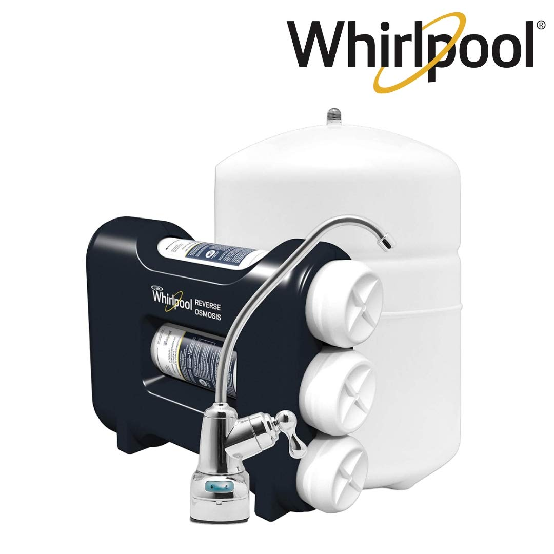 Whirlpool WHAROS5 Reverse Osmosis (RO) Under Sink Water Filteration System With Chrome Faucet, Extra Long Filter Life, Easy To Replace UltraEase, Filter Cartridges by Whirlpool