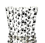 Animal Print, Dog, Doggie, Puppy Party Disposable Straws (50 Straws)