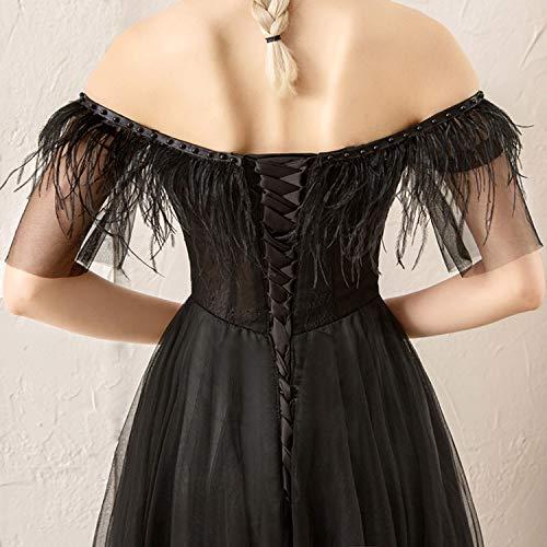 Correa Hombro Negro Aibab Falda Larga Estilo Novia De Del Noche Vestido Europeo Un Fuera Sexy gf71Twq