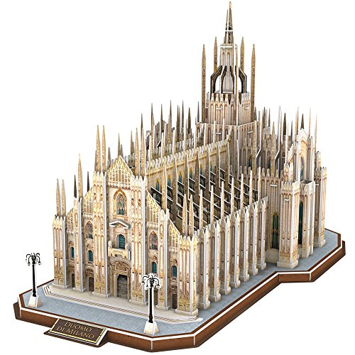 CubicFun 3D Italy Interesting Puzzles for Hobbies, Cathedral Architectures Church Building Model Kits Toys for Adults, Duomo di Milano, 251 Pieces ()