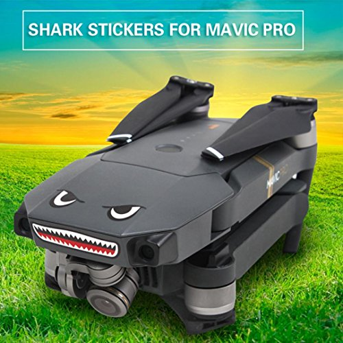 for DJI Mavic Pro RC Drone Waterproof Skin Shark Decoration Sticker