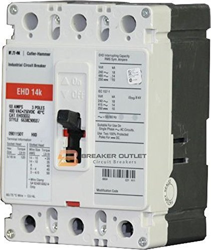 New Eaton Cutler-Hammer EHD3020 Circuit Breaker 3 Pole 20A 480V 14kA EHD by Eaton Cutler-Hammer