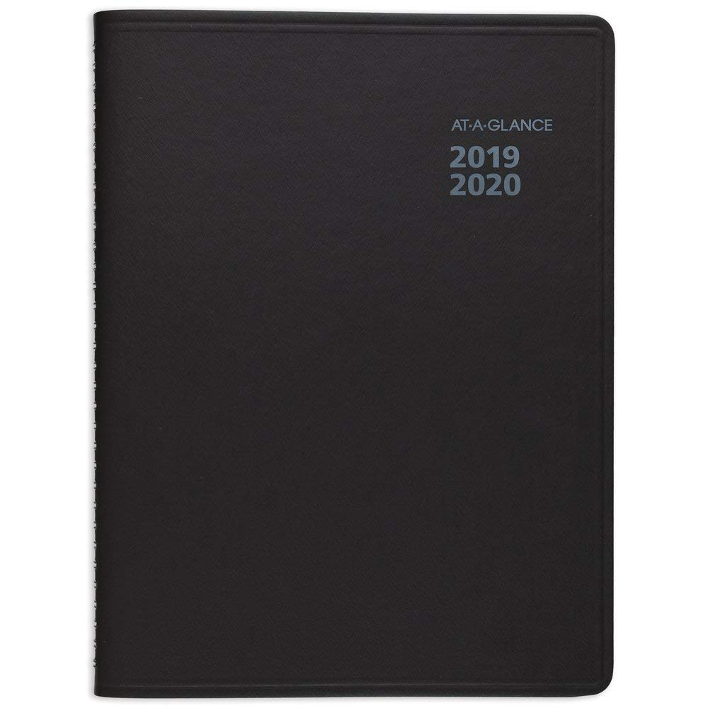 AT-A-GLANCE 2019-2020 Academic Year Weekly & Monthly Planner, Large, 8'' x 10'', QuickNotes, Black (761105)