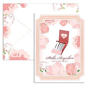 Amazon.com: Signature Line - Matches Valentine Note Cards (1 Card ...