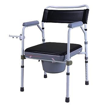 CUI XIA UK Toilet Silla Silla de baño Asiento de Inodoro Mujeres Embarazadas Viejo Colchoneta Resistente al Agua Aleación de Aluminio: Amazon.es: Hogar