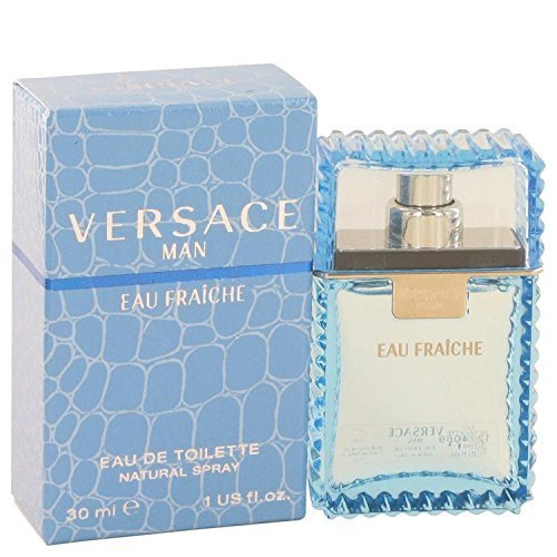 Versace Man by Versace Eau Fraiche Eau De Toilette Spray (Blue) 1 oz for Men - 100% Authentic