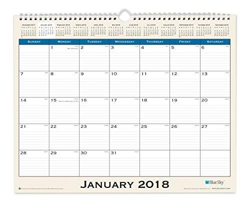 "Blue Sky 2018 Monthly Wall Calendar, Twin-Wire Binding, 15"" x 12"", Journey"