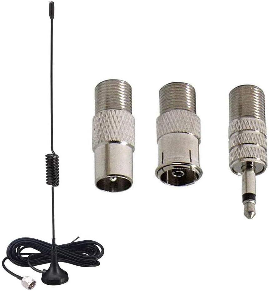 RUNCCI-YUN Antena FM Dab Antena de Radio FM de Base Magnética para Radio Dab Digital para Interiores Radio FM Receptor Estéreo Bluetooth Audio AV ...