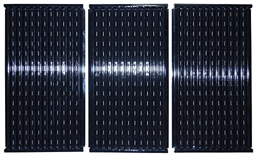Gas Grid - Music City Metals 53073 Porcelain Steel Cooking Grid Replacement for Gas Grill Models Charbroil 463434313 and Charbroil 463436813, Set of 3