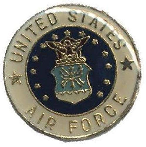 Aveshop Hat Lapel Push Tie Tac Pin Air Force Emblem - Accessorize with Men's Novelty Buttons and Pins