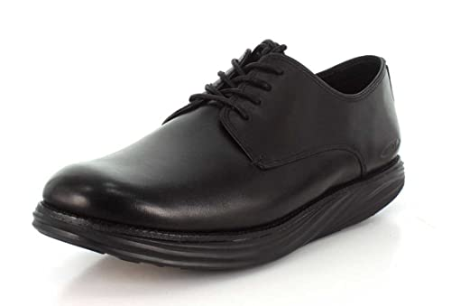 Made in Italia Shoes, Zapatos de Cordones Oxford para Hombre, Negro, 44 EU