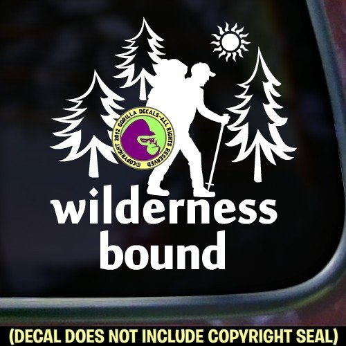WILDERNESS BOUND HIKER Vinyl Decal Sticker D