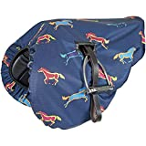 Waterproof Ride-On Saddle Cover - Printed Design-Horse Print One Size