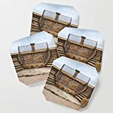 Society6 Drink Coasters, Twin stairs by davehare, set of 4