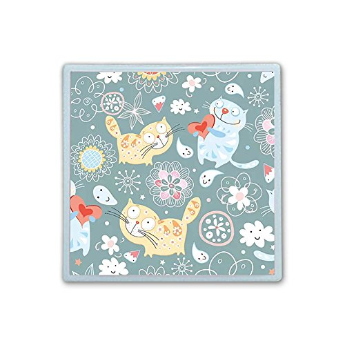 XIANN Care Contact Lens Box Holder Container Case Storage Eyecare Kit - Cute Funny Cats by XIANN Care