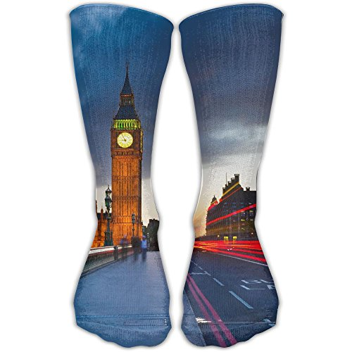London Unisex Tube Socks Crew Over The Calf Soccer Comfort Stockings For Sport And Travel -