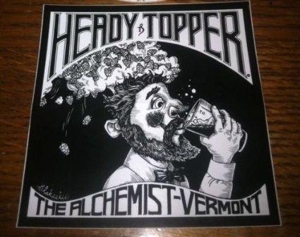 (The Alchemist Vermont - Heady Topper Double IPA Sticker)