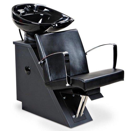 """Fontaine"" Black Beauty Salon Shampoo Chair & Sink Bowl Unit"