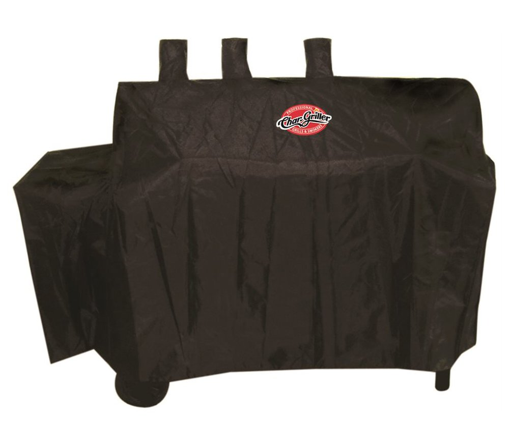 Char-Griller 8080 Dual Fuel Grill Cover, Black by Char-Griller