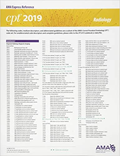 Erc CPT 2019 Radiology 9781622028009 Medicine Health