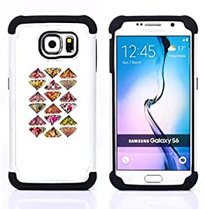 For Samsung Galaxy S6 G9200 - art hand drawn bling pattern Dual Layer caso de Shell HUELGA Impacto pata de cabra con im??genes gr??ficas Steam - Funny Shop -