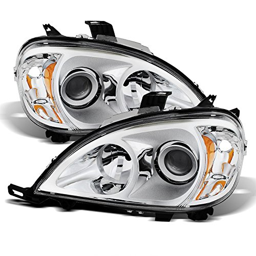 ACANII - For [Halogen Model] 1998-2001 Mercedes-Benz W163 ML320 ML430 Chrome Housing Headlights Headlamps Left+Right ()