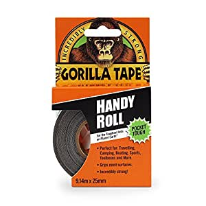 "Gorilla 6100101  Duct Tape To-Go, 1"" x 30 ft, Black"