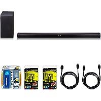 LG SH7B 360W 4.1ch Music Flow Wi-Fi Sound Bar with Wireless Subwoofer Bundle includes Sound Bar with Wireless...