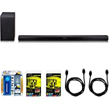 LG SH7B 360W 4.1ch Music Flow Wi-Fi Sound Bar with Wireless Subwoofer Bundle includes Sound Bar with Wireless Subwoofer, Screen Cleaning Kit, 2 Toslink Cables and 2 HDMI Cables