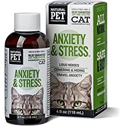 Natural Pet Pharmaceuticals Cat Homeopathic Anxiety & Stress 4oz Bottle Kitten