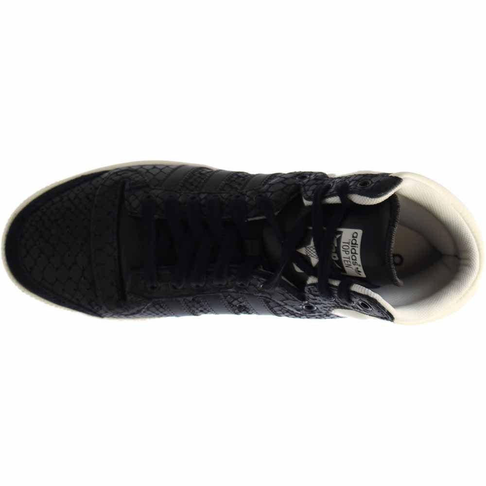 adidas Women's Top Ten Hi Black/White S75135 (Size: 8) by adidas (Image #6)