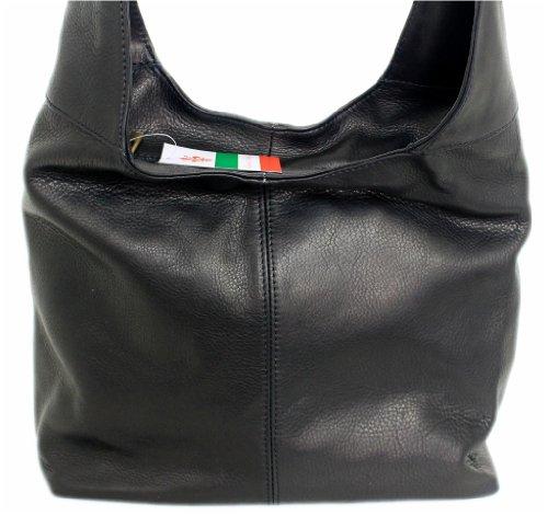 Made Italy, Borsa a spalla donna Nero nero mittel