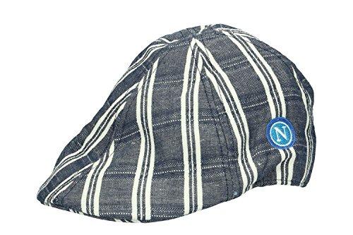 Hat man NAPOLI ENZO CASTELLANO flat cap blue with visor tg. L VL16 ee67caba2b36